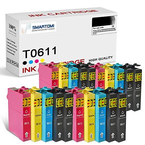 SMARTOMI T0611 T0612 T0613 T0614 compatibles con Epson T0611-0614 (T0615) Cartucho de Tinta, para Epson Printer Stylus D68 D88SERIES DX3800 DX3850 DX4200 DX4250 DX4800 DX4850 Series