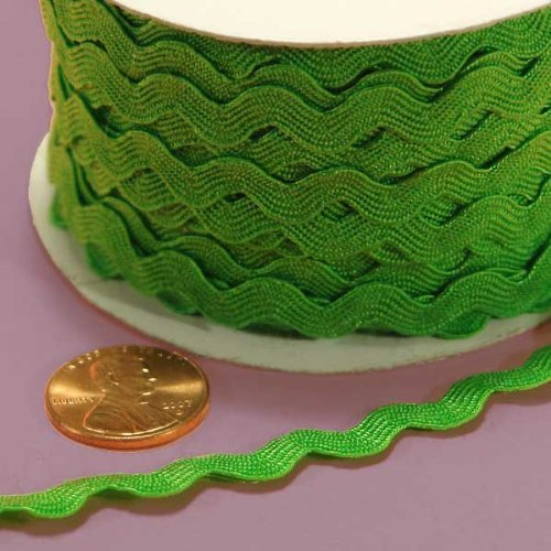 Apple Green Ric Rac Trim, 5mm X 22Yd