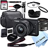 Canon EOS M200 Mirrorless Digital Camera with 15-45mm Lens + 32GB Card, Tripod, Case, and More (18pc Bundle)