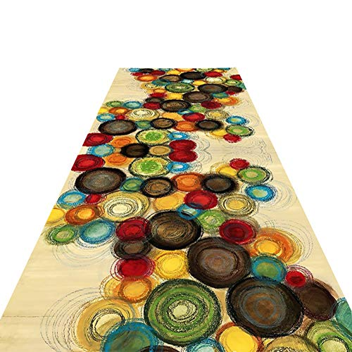 ZHAOHUI-alfombras pasillo Antideslizante Moderno Mezclado Alfombras Respirable del Piso Pasillo Larga Lavable Entrada Balcón Interior, Personalizable (Color : A, Size : 0.6x1m)