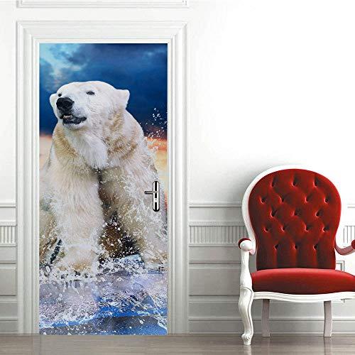 Mural para puerta de 77 x 199 cm, adhesivo para decoración del hogar, nevera, decoración de pared, murales para sala de estar, guardería, restaurante, oficina, pegatinas autoadhesivas