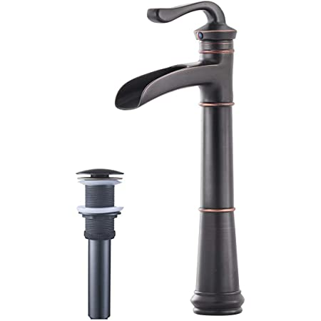 Greenspring Commercial Tall Spout Single Hole Lever Bathroom Vessel Sink Faucet,Oil Rubbed Bronze