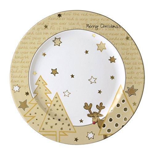 Rosenthal Arzberg Weihnachtsartikel Santas Reindeer Platzteller 31 Fahne [A]