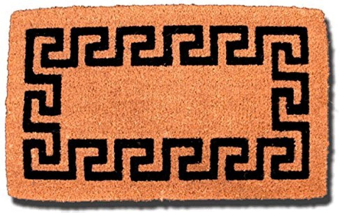 居住者蜜誰がT.W Evans Cordage GRK-003 Greek Key Cocoa Mat, 18-Inch x 30-Inch [並行輸入品]