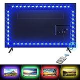 LED TV Retroilluminazione, Hoteril 2.2M Striscia Luminosa a LED USB Alimentata adatto a TV da 40-60 Pollici, Retroilluminazione TV LED con 16 Colori e 4 modalità e Telecomando per TV, PC Monitor