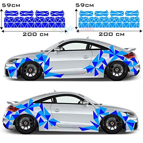 Aufkleber Dreiecke Auto Sticker CAR Tattoo New Eckig Decal Mix Set 2 Farbig 194 Teiliges Camouflage Style New