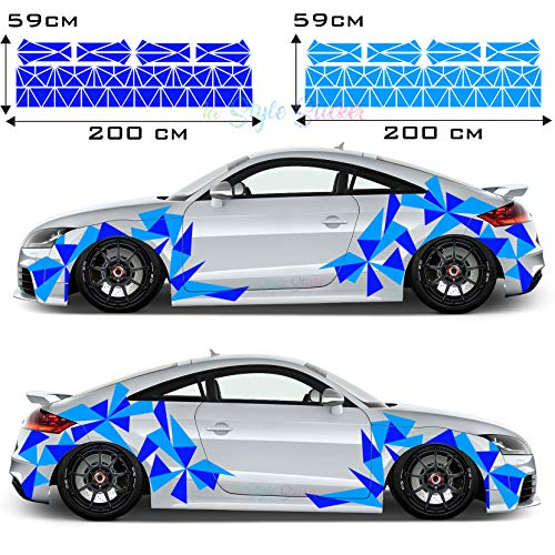 Aufkleber Dreiecke Auto Sticker CAR Tattoo New Eckig Decal Mix Set 2 Farbig 194 Teiliges Camouflage Style New