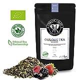 Edward Fields ® Tea - Té azul Oolong orgánico de alta calidad con frutos rojos. Te eco a granel, hoja entera, recolectado a mano, ingredientes naturales, Bio, 100g, China. Adelgazante