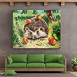Puzzle 1000 Piezas Arte de Erizo Animal Puzzle 1000 Piezas Educativo Divertido Juego Familiar para niños adultos50x75cm(20x30inch)