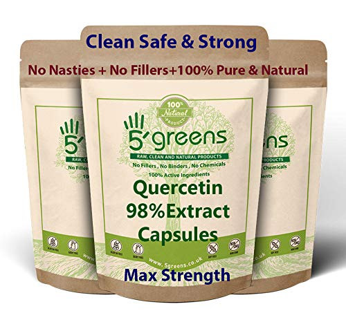 Quercetin 400mg Capsules 98% Extract 120 Vegetarian Capsules, 100% Natural - NO Chemicals or SYNTHEIC FILLERS OR Binders
