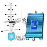 Dual Band Cell Phone Signal Booster 2G/3G/4G LTE 850/1900Mhz Band 2/5/25 Cell Phone Antenna Signal Booster AT&T T Mobile Boost Data and Voice Up to 3,000 Sq. Ft Mobile Signal Booster for Cell Phone
