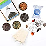 Simple Loose Leaf Tea Subscription Box - 4 Loose Leaf Teas, Curated Monthly Premium Hand Packaged Tea Blends - Loose Leaf Tea : Sampler