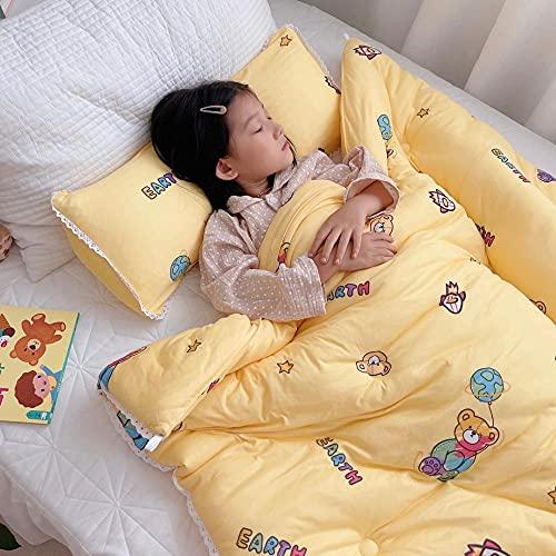 Coperta con Maniche,I Nuovi Bambini Sono Invernali in Cotone Lavorato a Maglia da Studenti Primavera e l'autunno è Il Letto Invernale Invernale per Bambini-Giallo_1.5x2.0m 1,7 kg.