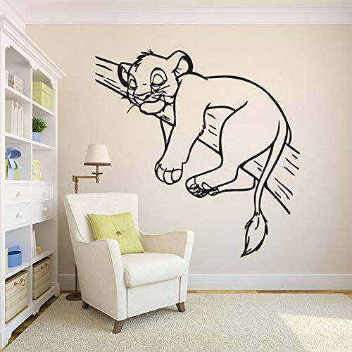 Pegatinas de pared para habitación de niños de dibujos animados pegatinas de decoración del hogar de anime póster pegatinas de pared de animales decoración de la habitación habitación de bebé