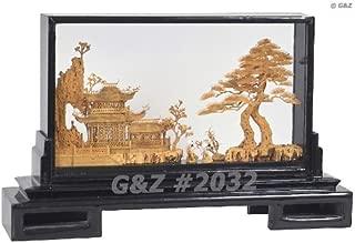 2032 Oriental Garden View w/Cranes - Chinese Cork Sculptures