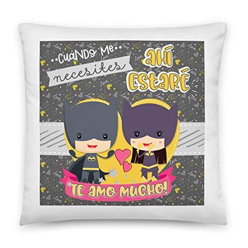 Kembilove Cojines para Parejas – Cojín para el sofá Originales y Colores únicos – Cojines para Parejas Frikis de Batman – Ultra-Suave y cómodo – Regalo Ideal para San Valentín