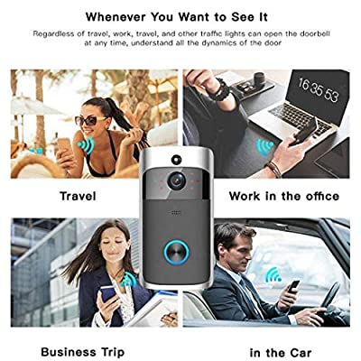 ferren Home Wireless Remote Monitoring Real-Time Two-Way Talk Video Doorbell Remote Home Monitoring Systems