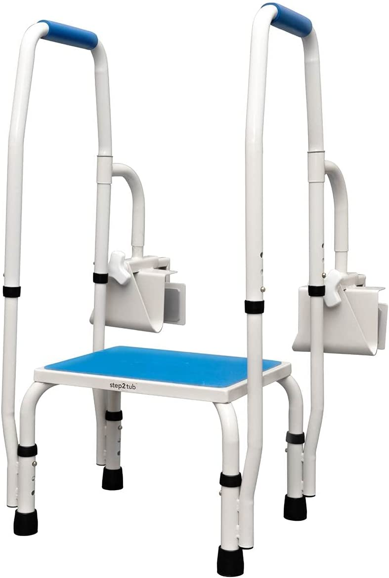 Step2tub Shower Step Stool for Seniors - Features Adjustable Hei