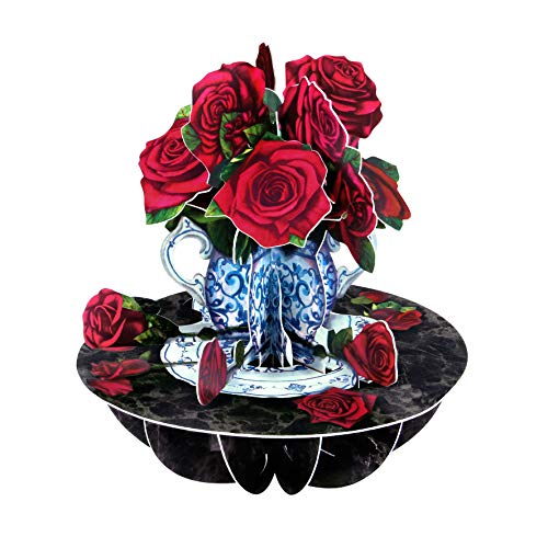Roses Pirouette - Santoro 3D Pop-Up Gretting and Birthday Card for Her