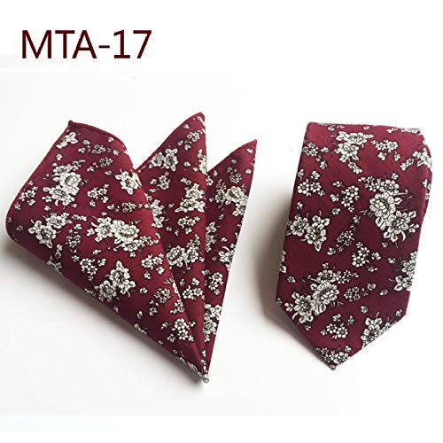 Heren Tie Pocket Handdoek Mode Set Bloem Rode Wijn Jurk Bruiloft Bal Casual Business Party Kleding Match