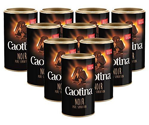 10er SET Caotina noir Dose 500 g / Schweizer Trinkschokolade / Kakao