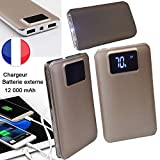 PRISKY Chargeur/Batterie Externe DE Secours 2USB 12000mAh Couleur Or- pour - Microsoft Lumia 950