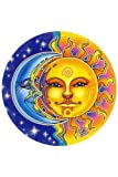 Mandala Arts Window Sticker 'Reflections' Sun & Moon