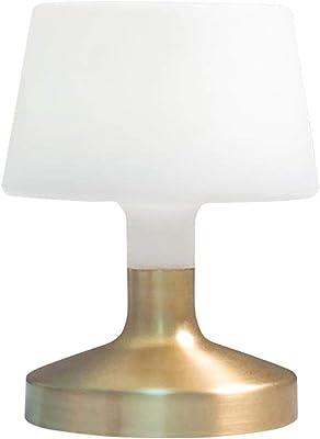 Lampe de table touch design sans fil pied en acier doré LED blanc chaud/blanc dimmable HELEN GOLD H21cm