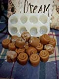 Mini Mini Cinnamon Bun Embeds 8 Cavity Silicone Mold 831 Food-Soap-Candle-Resin-Flexible Silicone Mold