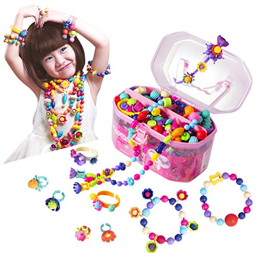 commercial Pop beads jewelry making set – children's toy handicrafts for girls 3, 4, 5, 6 and 7 years old –… kid jewelry maker