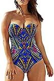 Plus Size Athletic One Piece Swimsuit Blouson Bathing Suit Navy 3X US 16-18