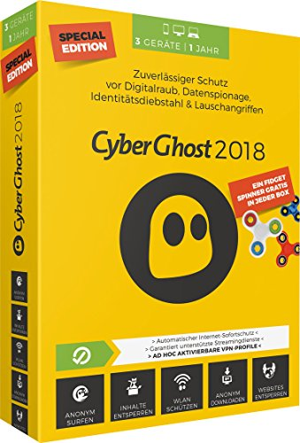 S.A.D Cyberghost 2018 1 Jahr|Special Edition|3 Geräte|PC, MAC, Android|Disc|Special Edition|3 Geräte|3 Geräte / 1 Jahr|PC, MAC, Android-Geräte|Disc|Disc