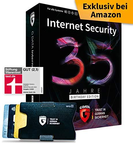 G DATA Internet Security 2020 Sonderedition: 5 Geräte, 1 Jahr - Box inkl. DVD & RFID-Blocker