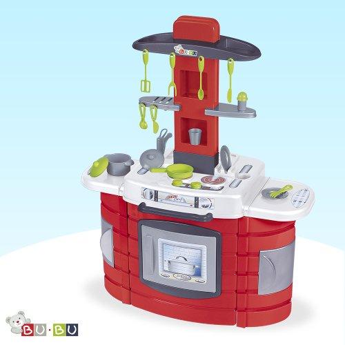 Palau TOYS 42023 - Kompakte Spielküche mit Herd, Backofen, Spülbecken, Waschmaschine