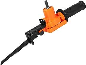 Adaptador de sierra alternativa para cambio de taladro eléctrico en sierra de calar, herramienta de corte de madera de metal portátil con 2 cuchillas y destornillador