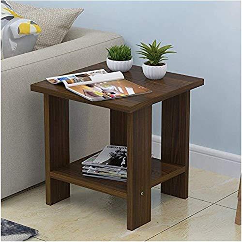 ZXNRTU Diseño simple Mesa de café de madera natural pequeña mesa de centro Escritorio Sala de estar Sofá laterales de esquina Varios dormitorio mesitas de noche multiuso pequeña mesa de centro for sal
