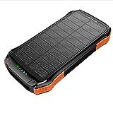 SPARKX Solaire Mobile Power 16000Mah, Batterie Étanche sans Fil avec Lampe De Poche LED, 2 USB Et Les Interfaces Type-C, Convient pour Les Téléphones Mobiles Mainstream, Ordinateurs, Etc,C