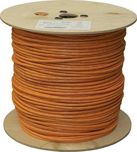 BIGtec CAT 7 Netzwerkkabel Verlegekabel LAN Kabel 500m CAT7 PiMF halogenfrei Zertifiziert GHMT BauPVO Eca POE orange Netzwerk Installationskabel Datenkabel