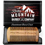 Beard Comb - Natural Sandal Wood for Hair with Scented...