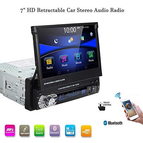 GOFORJUMP Car Stereo audio Radio Bluetooth 1DIN 7 pollice HD Retrattile Touch Screen Monitor MP5 SD FM USB Player Telecamera Posteriore 9601