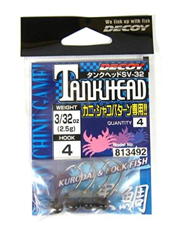 カツイチ(Katsuichi) デコイ SV-32 タンクヘッド #4-5g (3/16oz) ブラック