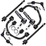 FEIPARTS Suspension Parts Control Arm Kit - Upper Control Arms Inner Outer Tie Rod Ends Lower Ball Joints Front Sway Bar End Links 2003 2004 For Ford Expedition For Lincoln Navigator