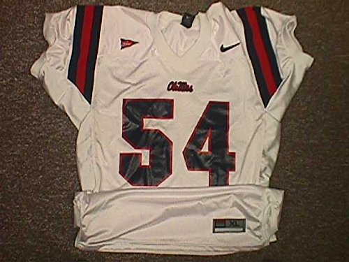 Jeremy Garrett University of Mississippi Rebels 2004 Game Worn Football Jersey