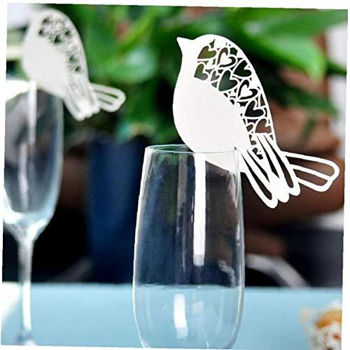 Angoter Evento Fuentes de la Boda del pájaro del Amor 50PCS Laser Cut Nombre Tarjeta del Lugar del Boda del sostenedor de la Tabla del Partido del Partido de la decoración de Cristal