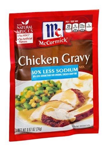 McCormick Chicken Gravy Mix 30% Less Sodium 0.87OZ (Pack of 24)