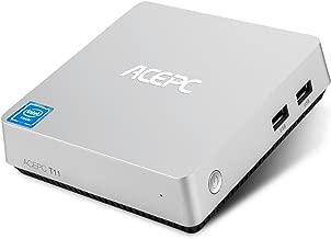 Mini PC ACEPC T11 Fanless Mini Desktop Computer Windows 10 64-bit Intel Atom x5-Z8350 Processor up to 1.92 GHz,4GB/32GB,Support Dual Band WiFi/BT 4.0/Dual Output - HDMI/VGA/4K HD,SATA for 2.5 Inch HDD
