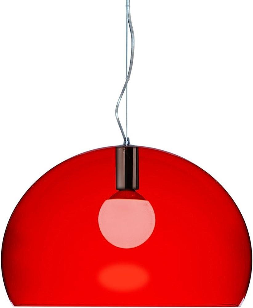 Kartell small fl/y, lampada da soffitto 15 w,in pmma colorato in massa 09053K3