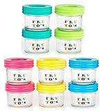 PREMIUM VIALS CREATIVE PACKAGING SOLUTIONS Verre Aliments pour bébés contenants de Stockage -réutilisables 4oz Jars avec...