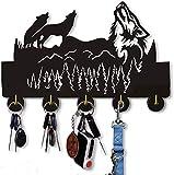 Wild Animal Household Wall Wooden Hooks Indoor Use Key Holder | Bedroom Kitchen Office Heavy Duty Hanger | Handmade Home Decor Wooden Home Storage Hooks (Wild Wolf)