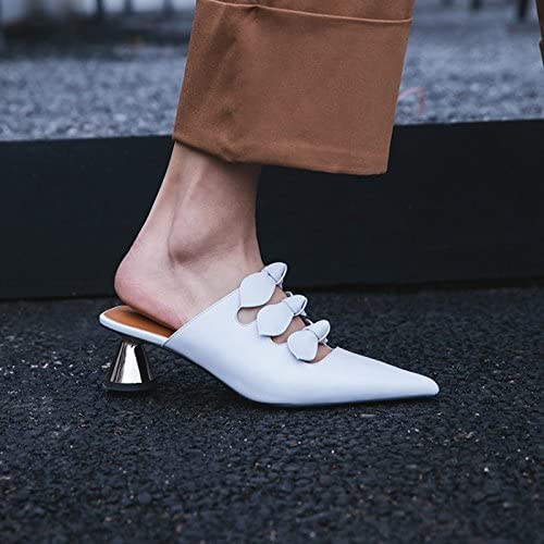 Qingchunhuangtang@ Baotou Sandales Sandales a Talons Glissant Pointe Froide